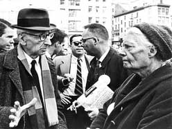 Dorothy Day with AJ Muste photo: Marquette U Library